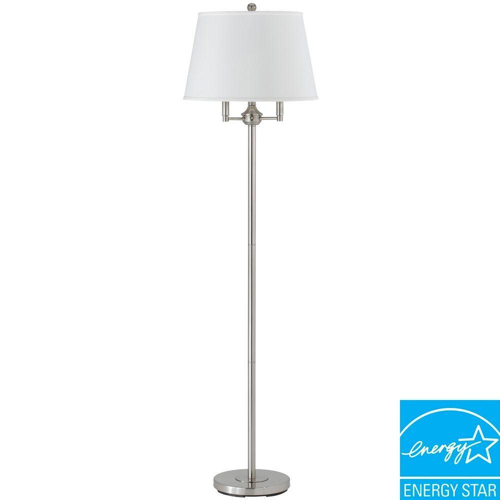 62 in. Six Way Andros Floor Lamp in Brushed Steel