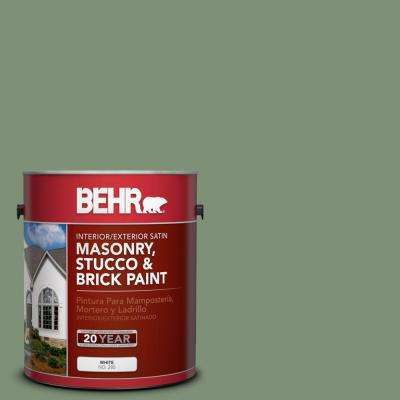 1 gal. #MS-60 Desert Sage Satin Interior/Exterior Masonry, Stucco and Brick Paint