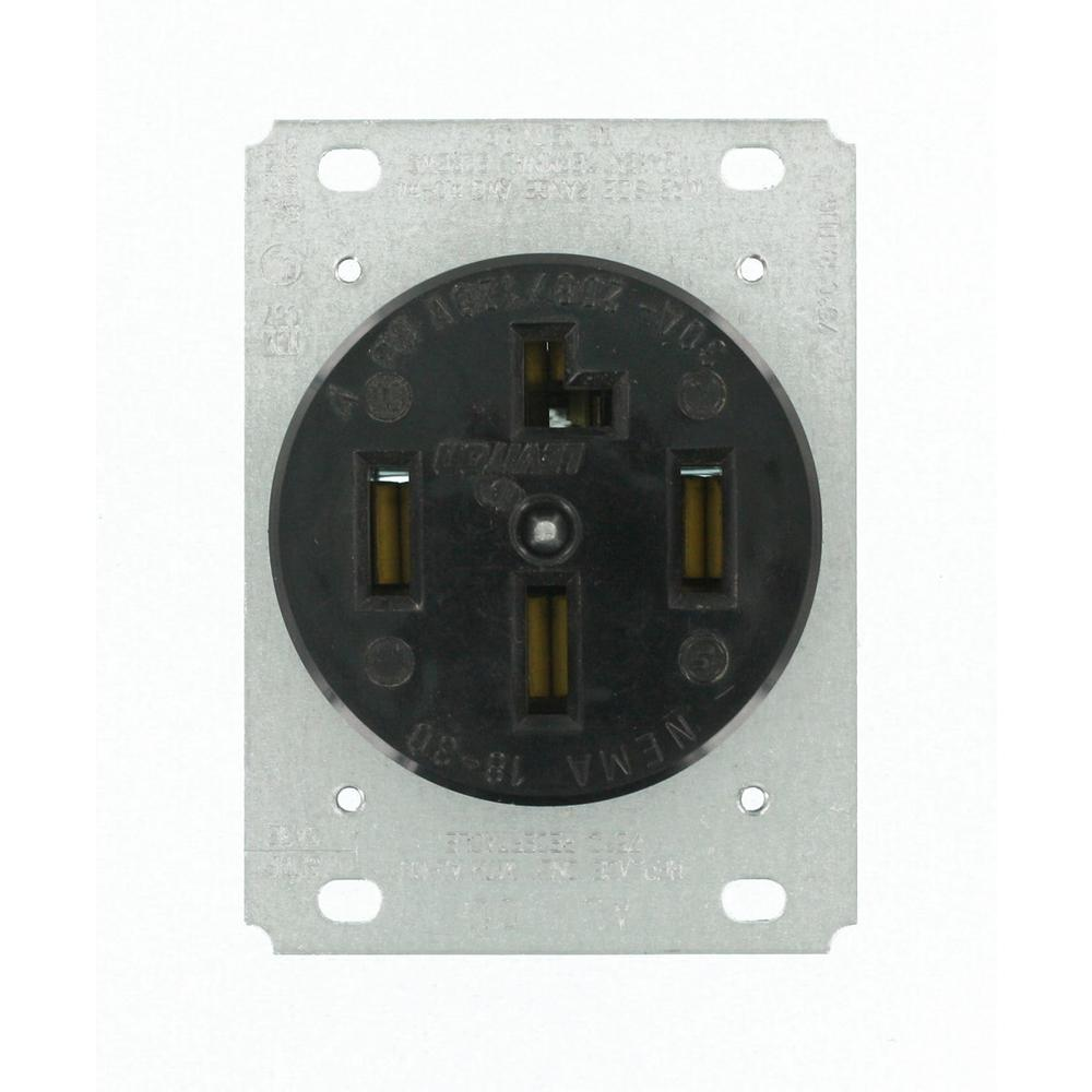 black leviton plugs connectors 8330 64_1000 leviton 30 amp surface mount power single outlet, black r60 05054 leviton 30a flush mount power outlet wiring diagram at bayanpartner.co