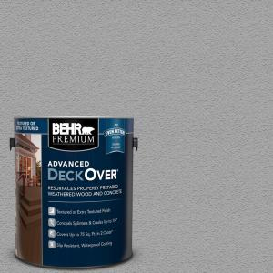 BEHR PREMIUM ADVANCED DECKOVER 1 gal. #SC-365 Cape Cod Gray Textured Solid Color Exterior Wood and Concrete Coating