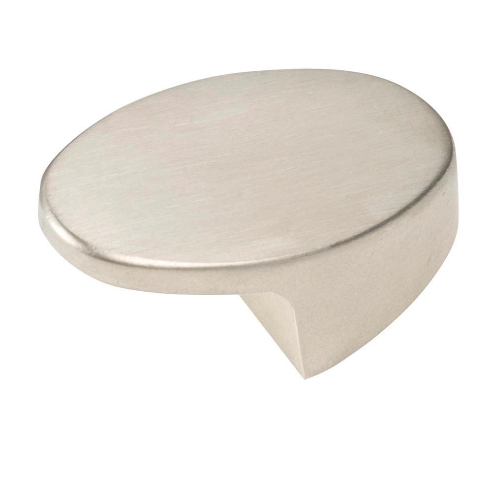 Italian Designs Collection Satin Nickel Oval Cabinet Knob