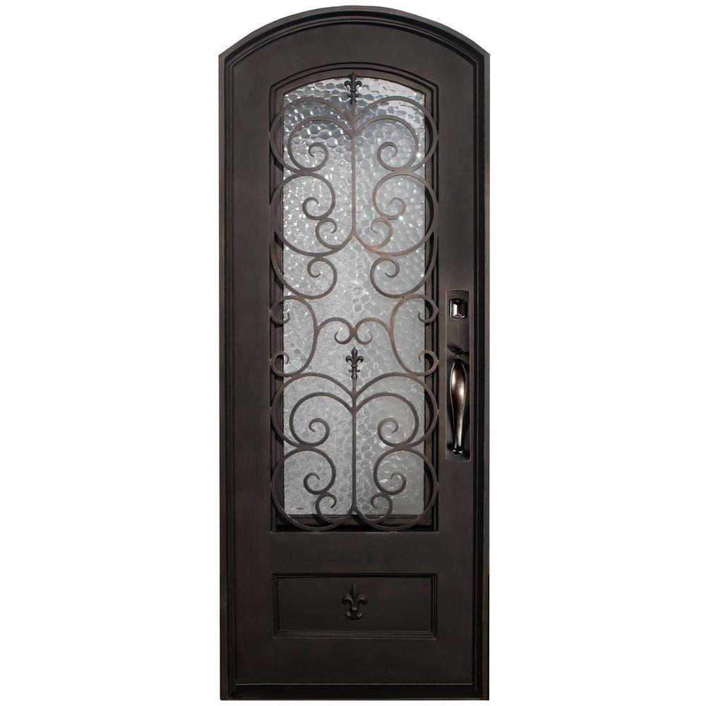 46 in. x 97.5 in. Orleans Classic 3/4-Lite Painted Oil Rubbed