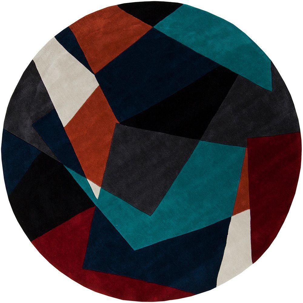 Artistic Weavers Estrella Teal 8 Ft. X 8 Ft. Round Area