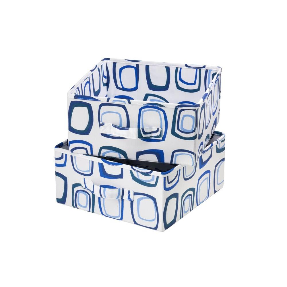 Blue and White Drawer for Sweater Organizer (2-Pack)