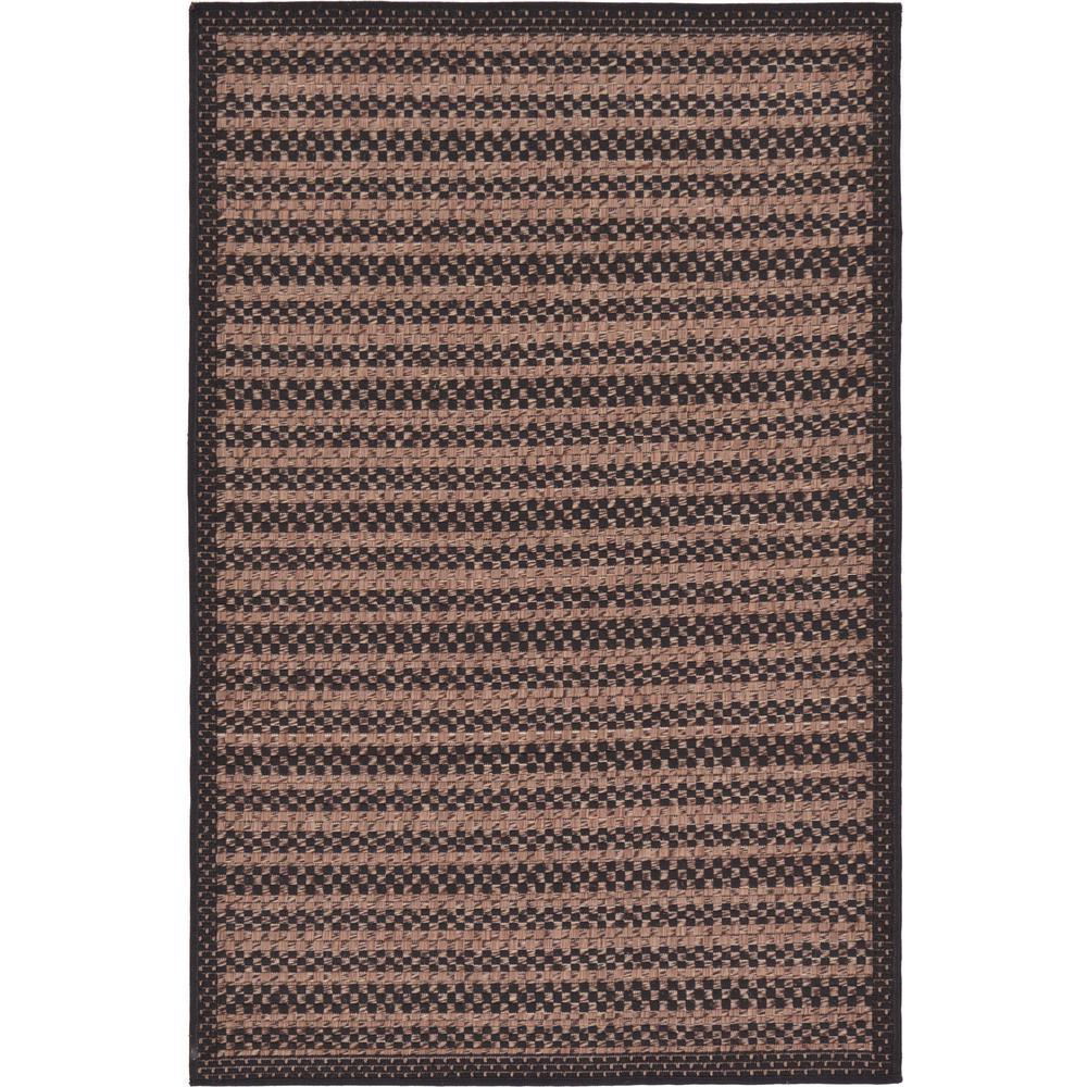 Outdoor Checkered Black 3' 3 x 5' 0 Area Rug
