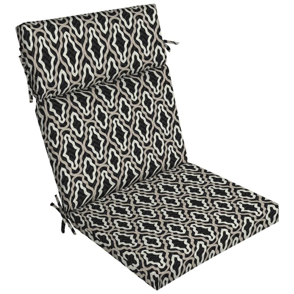 DriWeave Amalfi Trellis Outdoor High Back Dining Chair Cushion