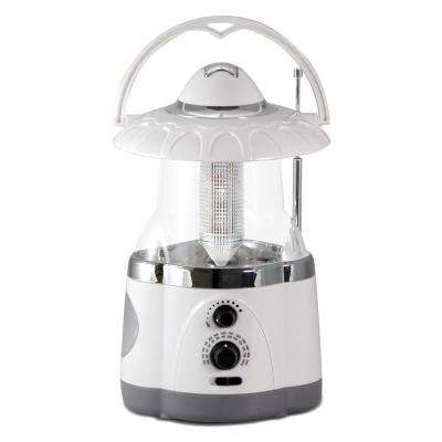 12-LED White Battery Operated Multifunction Radio Lantern (2-Pack)