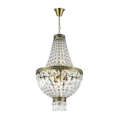 Metropolitan Collection 5-Light Antique Bronze and Clear Crystal Chandelier