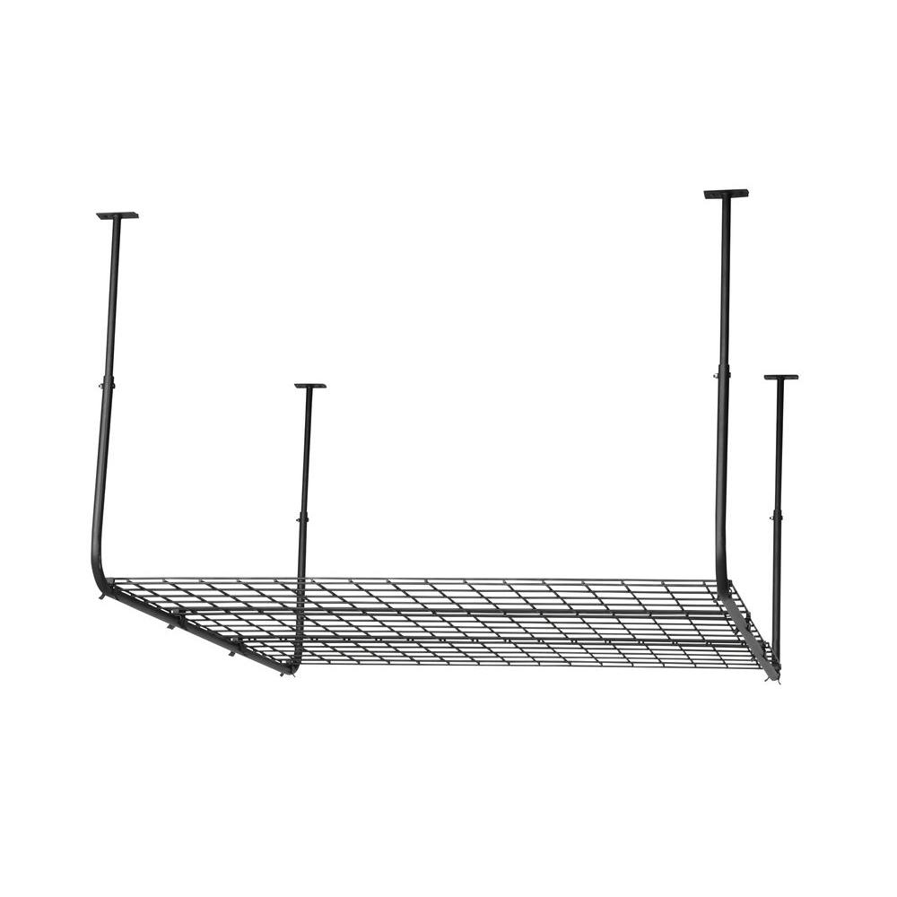 27 in. Steel Construction Ceiling Mount Storage in Black