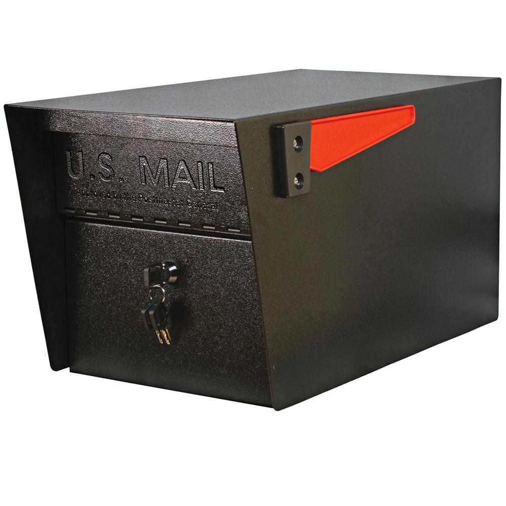 Mail Boss Manager Locking Post Mount Mailbox With High Security Patented Lock Black