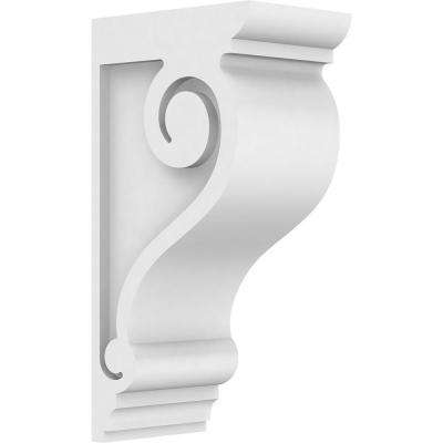 3 in. x 12 in. x 6 in. Standard Scroll Architectural Grade PVC Corbel