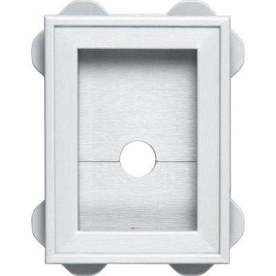 5.5 in. x 8.625 in. #001 White Wrap Around Mounting Block