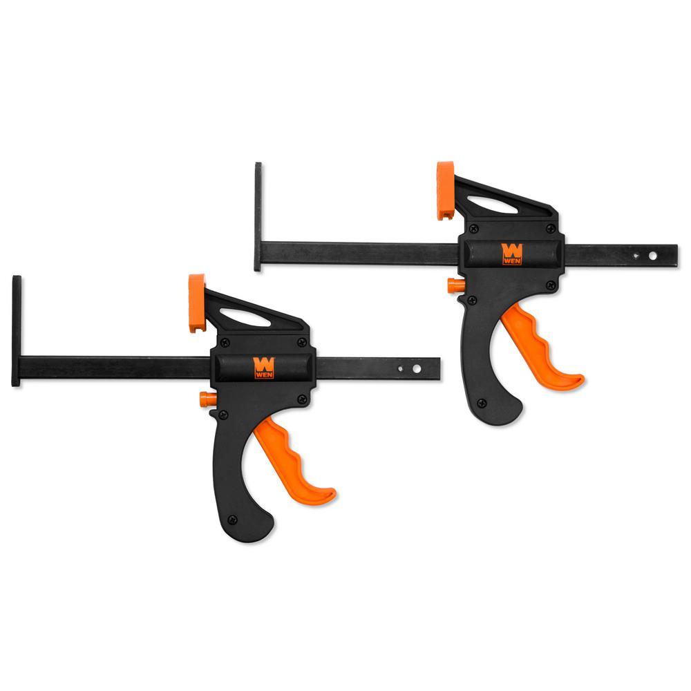 WEN 7.5 in. Quick Release Track Saw Clamps (2-Pack)