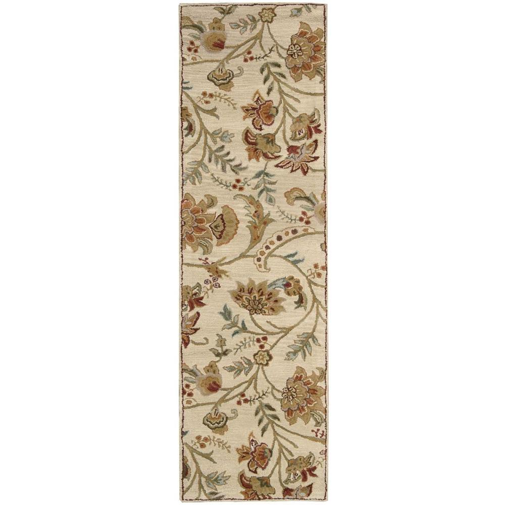Nourison Overstock Firenze Cream 2 ft. 3 in. x 8 ft. Runner