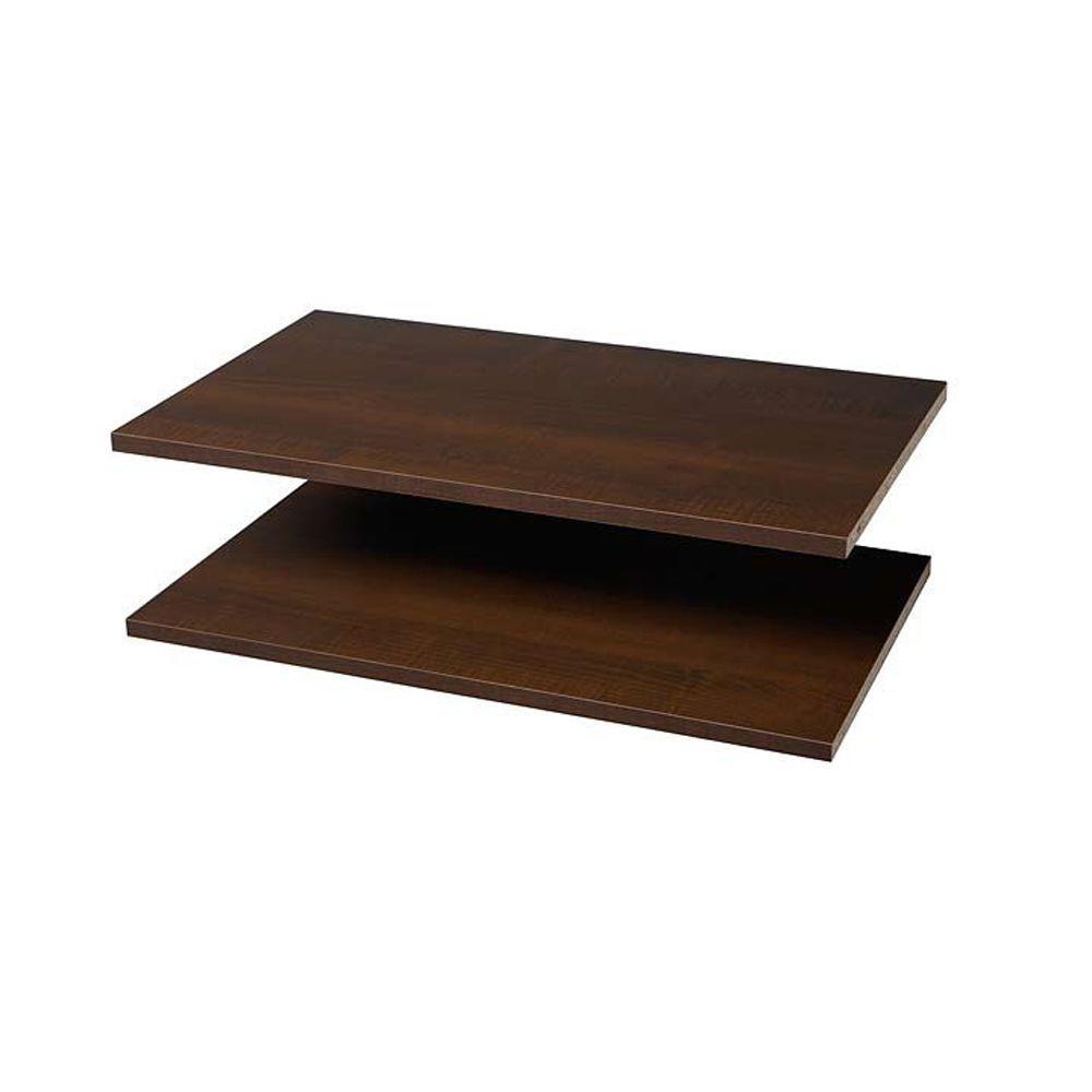 espresso wood closet shelves closet shelves the home depot rh homedepot com Espresso Book Shelf Floating Shelf Espresso