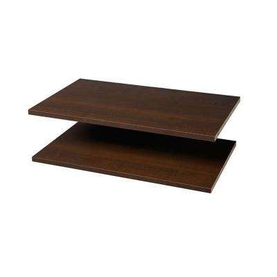 24 in. Espresso Shelves (2-Pack)