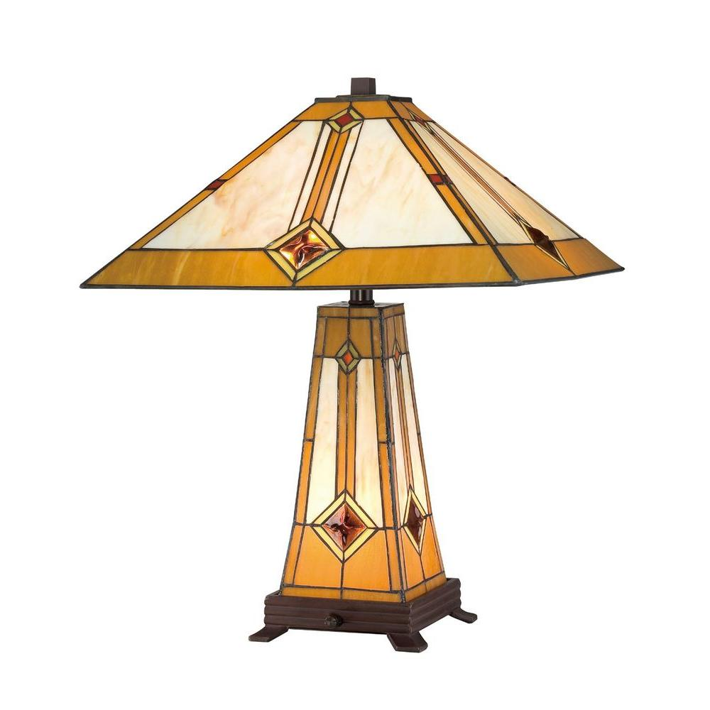 Serena D Italia Tiffany Style Golden Mission 23 In Bronze Lit Base Table Lamp