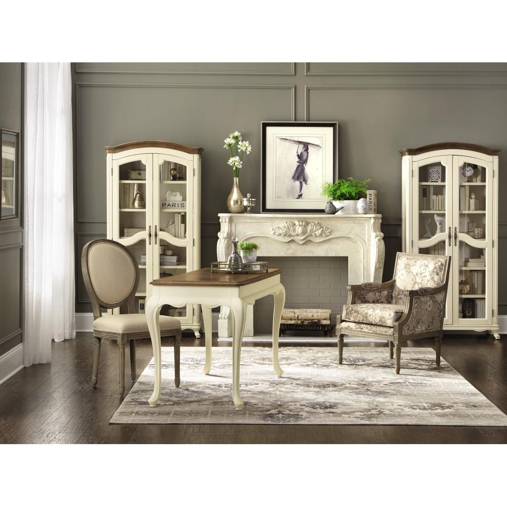 Home Decorators Collection Provence Ivory Writing Desk With Ash Grey Top 9939300510 The Home Depot