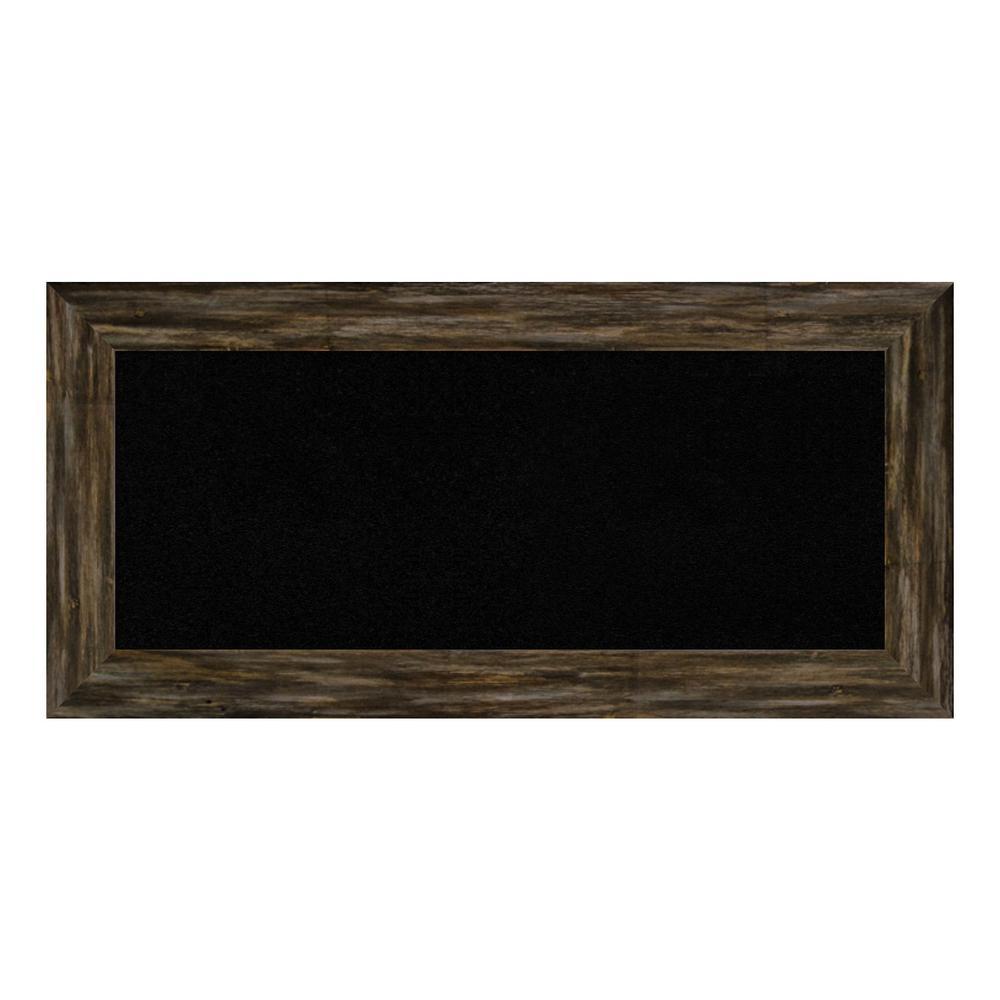 Fencepost Brown Narrow Framed Black Cork Memo Board