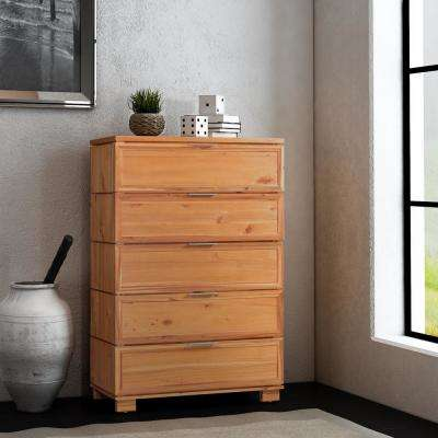 Taxco 5-Drawer Butterscotch Chest