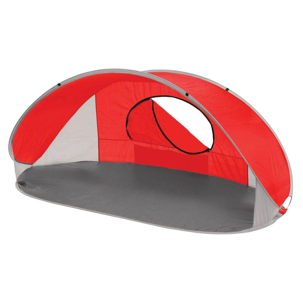 Picnic Time Manta Sun Shelter In Red Grey And Silver
