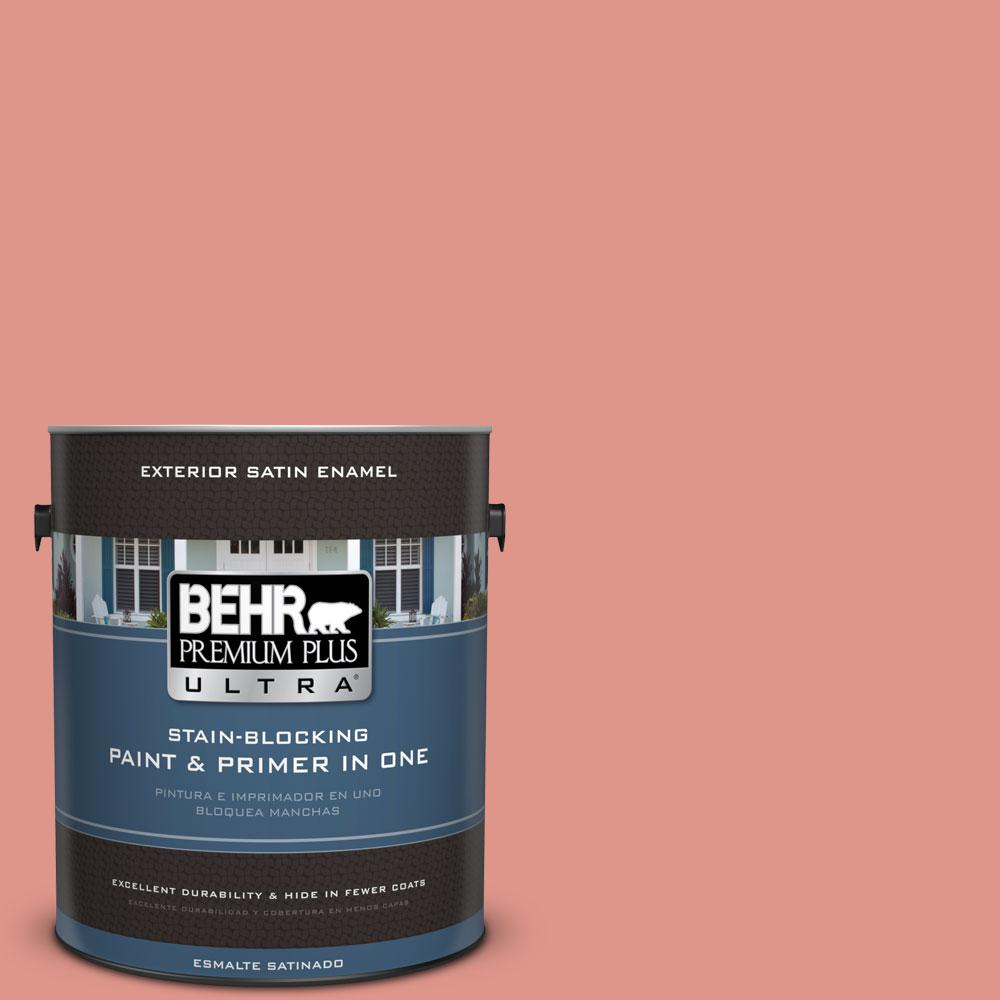 BEHR Premium Plus Ultra 1-gal. #BIC-18 Fresh Watermelon Satin Enamel Exterior Paint