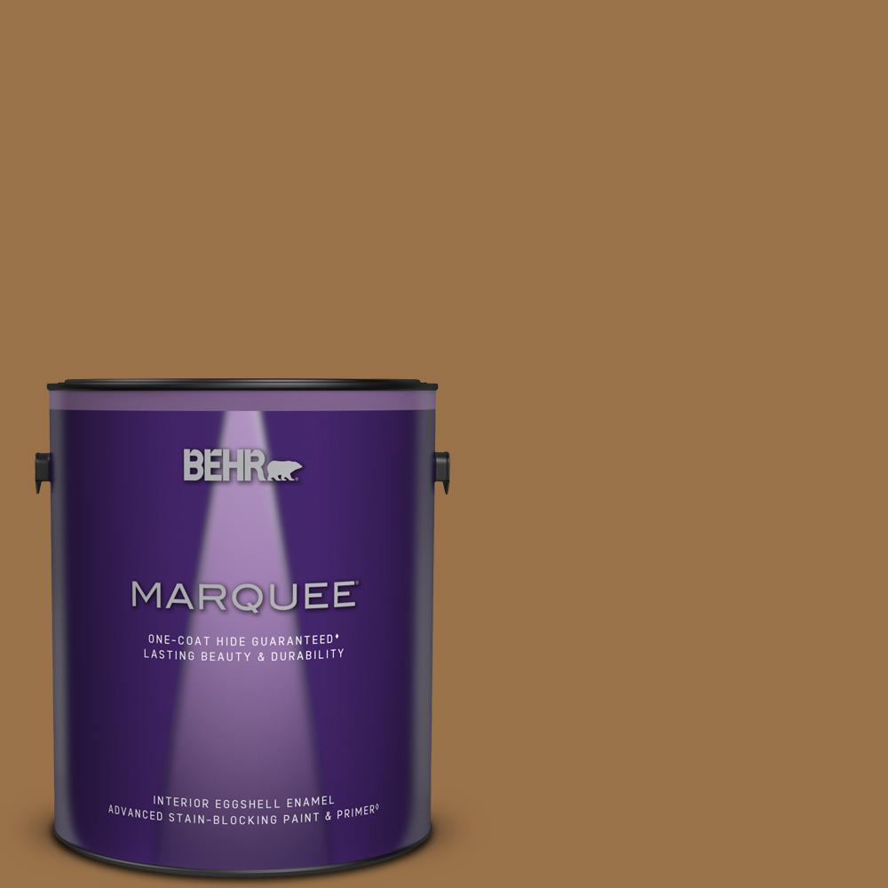 Behr Marquee 1 Gal Ppu4 17 Olympic Bronze Eggshell Enamel Interior Paint Primer 245301 The Home Depot