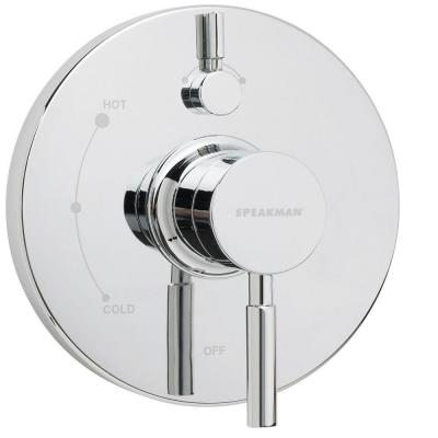 Neo Lever 1-Handle Wall Mount Pressure Balance Valve Trim Kit in Polished Chrome