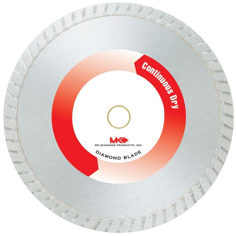MK Diamond 7 in. Continuous Rim Dry-Cutting General-Purpose Diamond Circular Saw Blade