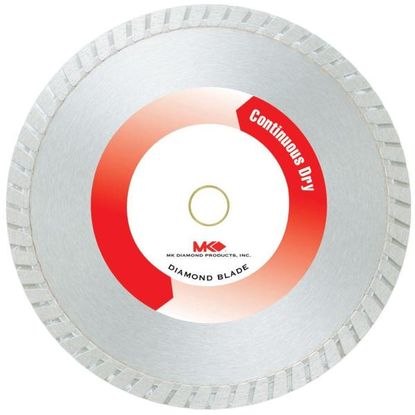 7 in. Continuous Rim Dry-Cutting General-Purpose Diamond Circular Saw Blade