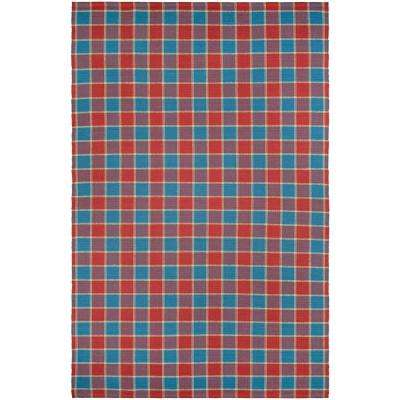 Bar Harbor Cape Plaid Fruit Punch 8 ft. x 10 ft. Area Rug