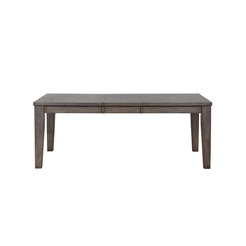 Acme furniture adriel antique gray oak dining table 72415 the home depot