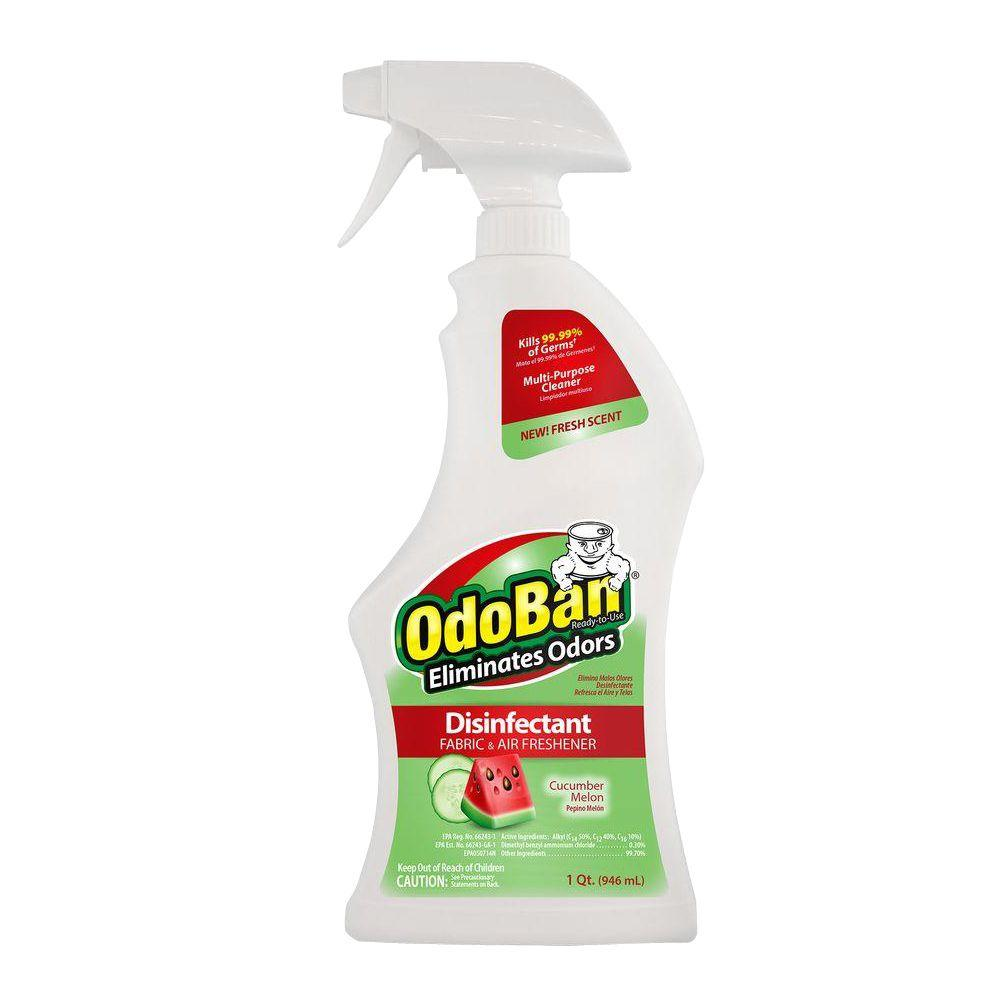 Bathroom Fresheners odoban 32 oz. ready-to-use cucumber melon disinfectant fabric and