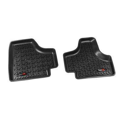 Floor Liner Rear Pair Black 2008-2013 Jeep Liberty KK