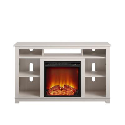 Domingo 47.6 in. Electric Fireplace TV Stand for TVs Up to 55 in. Ivory Pine