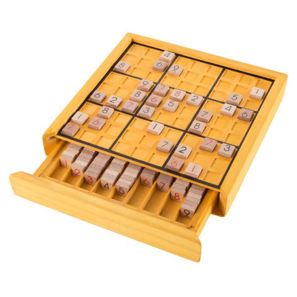 81 Grids Number Place Wood Puzzle for Kids and Adults KAILIMENG Wooden Sudoku Board Game with Drawer