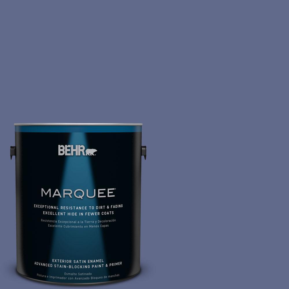 BEHR MARQUEE 1-gal. #S540-7 Bossa Nova Satin Enamel Exterior Paint, Blues