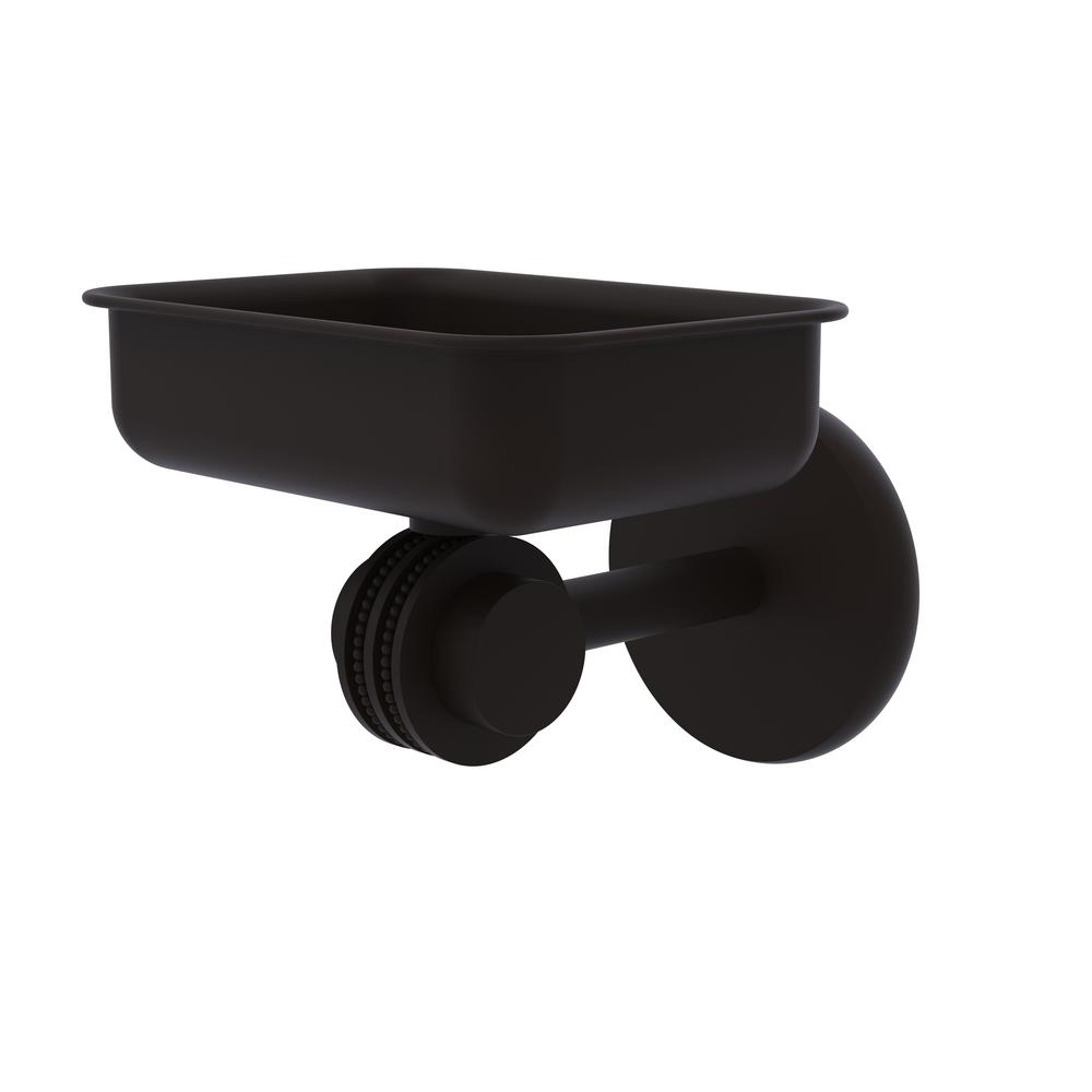 Allied Brass Satellite Orbit Two Collection Wall Mounted Soap Dish with Dotted Accents in Oil Rubbed Bronze