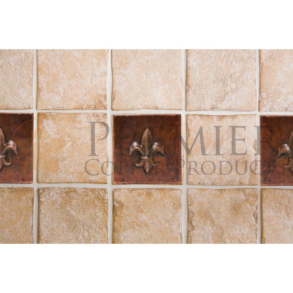 - Premier Copper Products 4 In. X 4 In. Hammered Copper Fleur De Lis