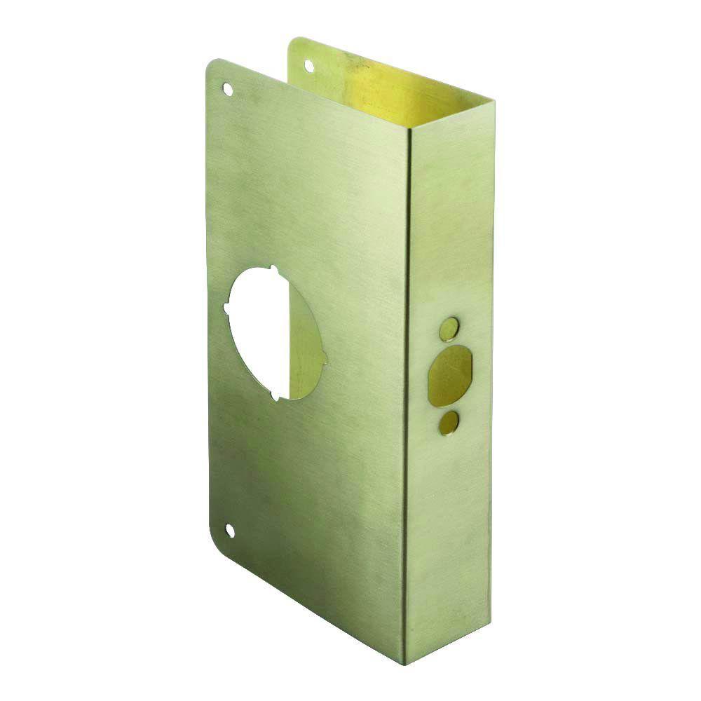 2-3/4 in. x 1-3/4 in. Antique Brass Door Reinforcer
