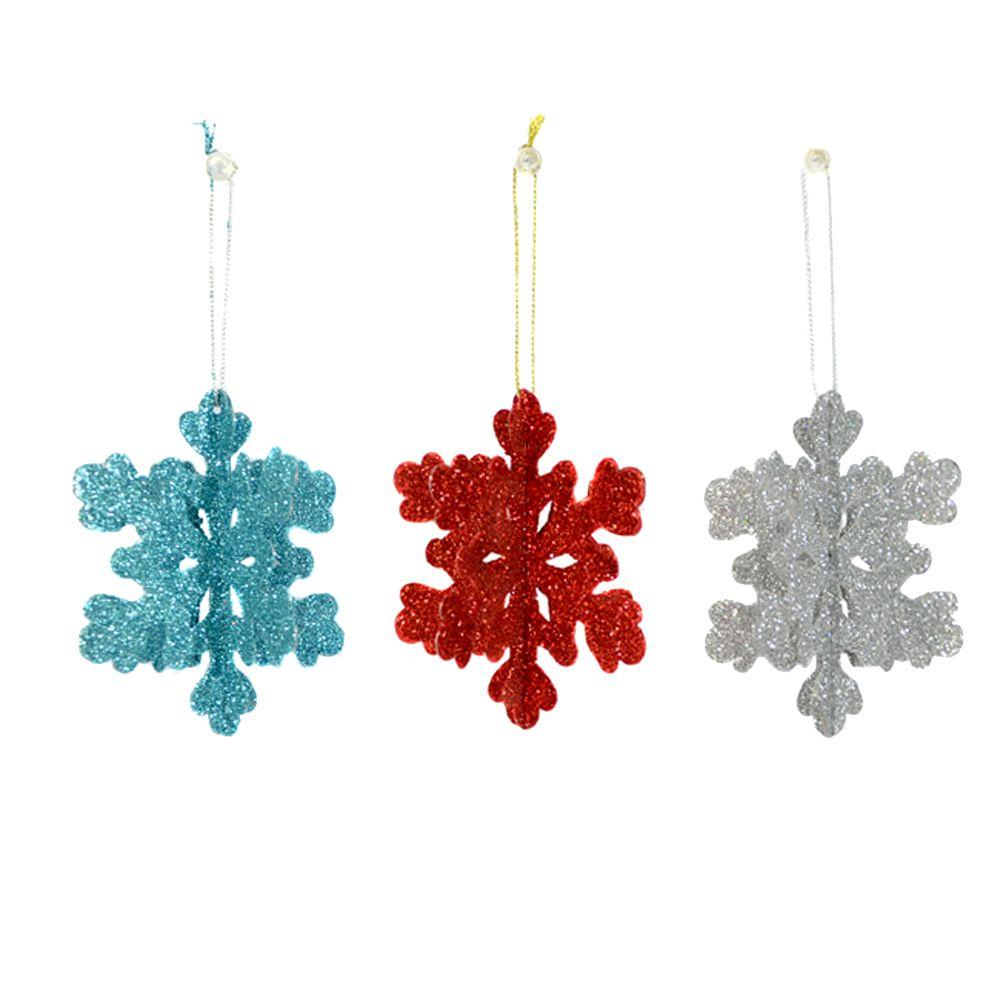Home Accents Holiday North Pole Snowflake Ornaments (Set of 9)