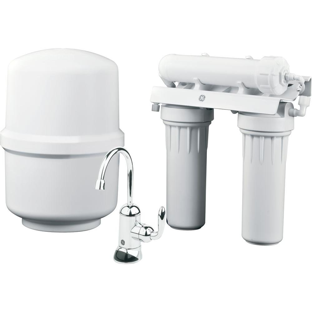 ge under sink reverse osmosis water filtration system gxrm10rbl