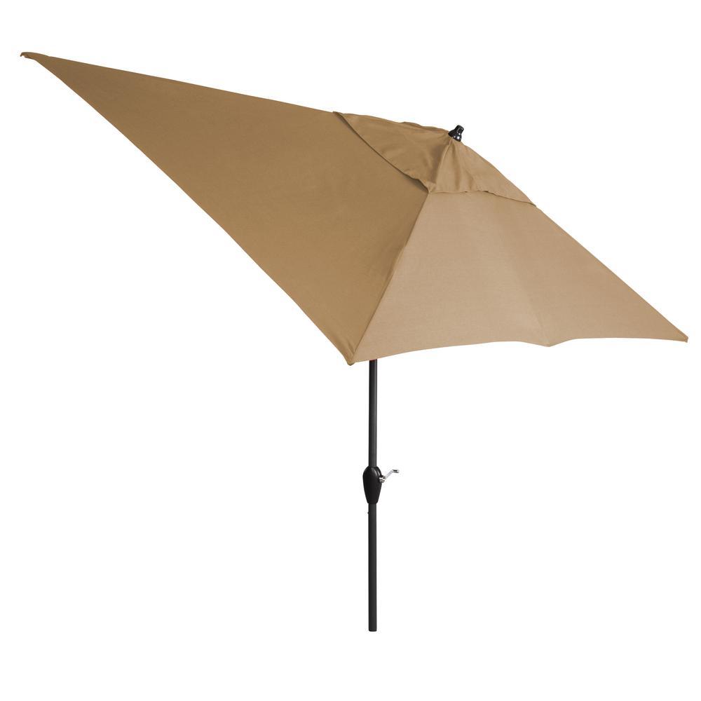 10 ft. Aluminum Tilt Patio Umbrella in Toffee
