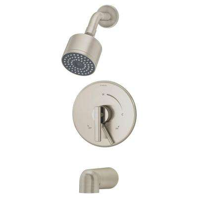 Dia Single-Handle 1-Spray Tub and Shower Faucet System in Satin Nickel (Valve Included)
