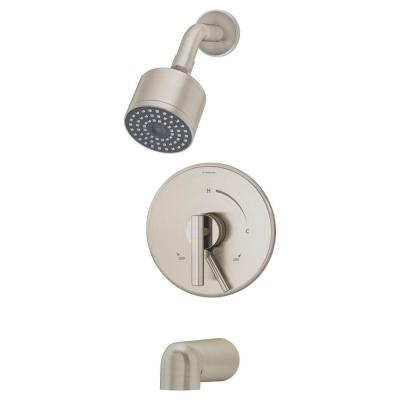 Dia Single-Handle 1-Spray Tub and Shower Faucet in Satin (Valve Not Included)