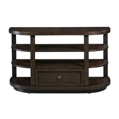 Grove 48 in. Chocolate Mahogany Rectangle Wood Console Table with Drawers