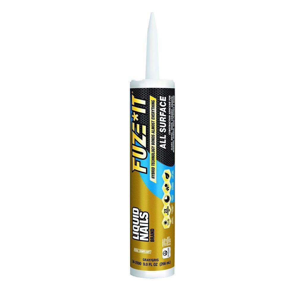 Fuze It 9 oz. Gray All Surface Construcion Adhesive