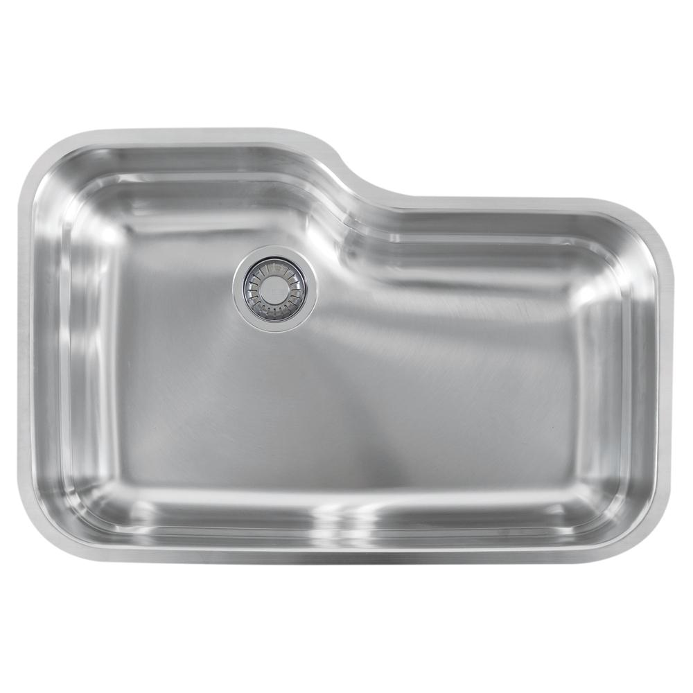 Franke Orca Undermount Stainless Steel 30.6875 in. x 20.0625 in. Single Bowl Kitchen Sink