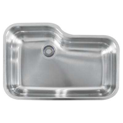Orca Undermount Stainless Steel 30.6875 in. x 20.0625 in. Single Bowl Kitchen Sink