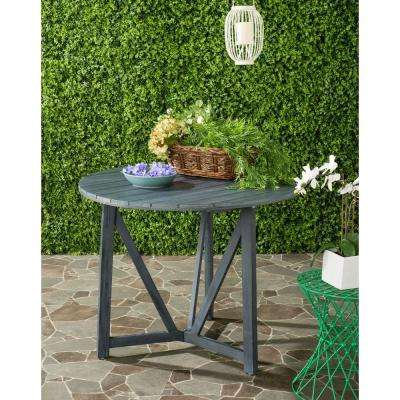 Cloverdale Ash Grey Round Outdoor Patio Dining Table